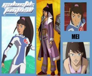 Puzzle Mei es la jugadora número 7 del equipo de los Snow Kids
