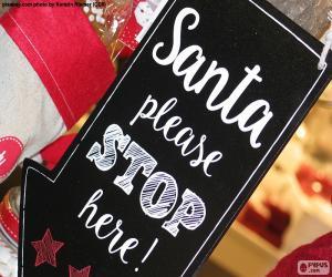 Puzzle Message pour le Père Noël