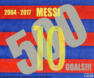 Puzzle Messi 500 buts