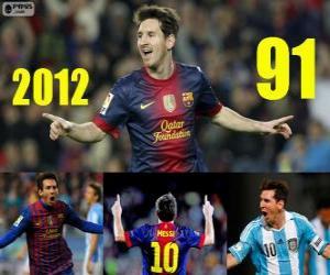 Puzzle Messi ferme le 2012 avec 91 buts
