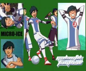 Puzzle Micro-Ice est le joker de l'équipe Snow Kids, a le numéro 3