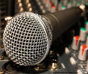 Puzzle Microphone et table de mixage