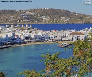 Puzzle Mikonos, Grèce