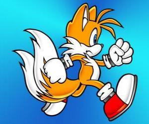 Puzzle Miles Prower, connu sous le nom Tails est un renard à deux queues qui peut voler