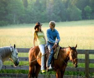 Puzzle Miley Stewart à cheval