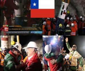 Puzzle Mineurs chiliens de sauvetage fin heureuse