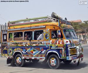 Puzzle Minibus, Dakar, Sénégal