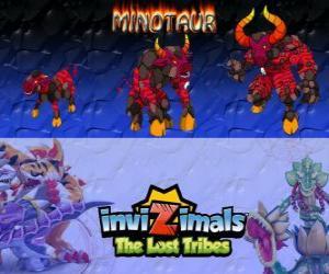Puzzle Minotaur, dernière évolution. Invizimals The Lost Tribes. Invizimal féroce et dangereux qui a échappé le labyrinthe