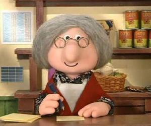 Puzzle Mme Goggins la postière du village de Greendale