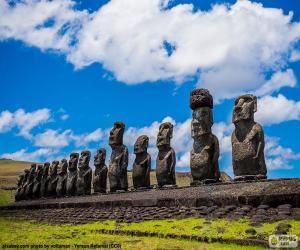 Puzzle Moais de Rapa Nui