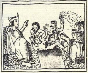 Puzzle Moctezuma dans le trône. Le Huey Tlatoani, le dirigeant du ancien peuple aztèque