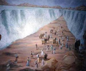 Puzzle Moïse divise les eaux de la Mer Rouge, dans l'exode du peuple juif