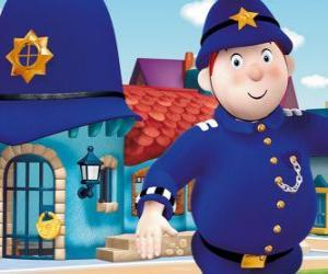 Puzzle Monsieur le gendarme est le policier de Miniville, le Pays des Jouets
