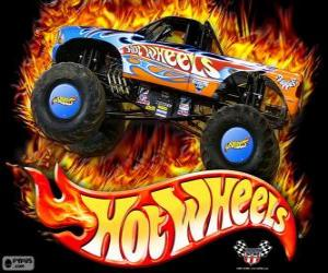 Puzzle Monster Truck de Hot Wheels en action