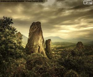 Puzzle Montagnes de Météores, Grèce