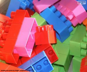 Puzzle Morceaux de jeu construction