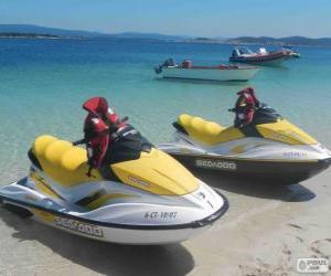 Puzzle Motomarines, scooters des mers, motos aquatiques. Embarcations de plaisance