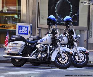 Puzzle Motos de police de New York