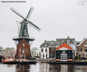 Puzzle Moulin De Adriaan, Haarlem, Pays-Bas