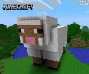 Puzzle Mouton de Minecraft