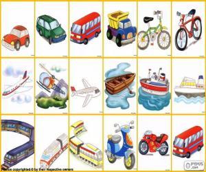 Puzzle Moyens de transport
