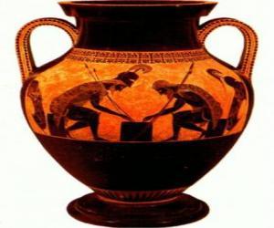 Puzzle mphore grecque décorée