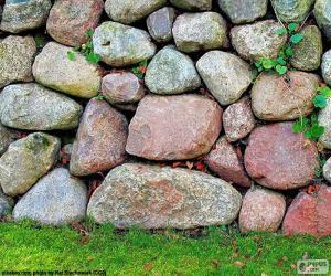 Puzzle Mur de jardin pierre