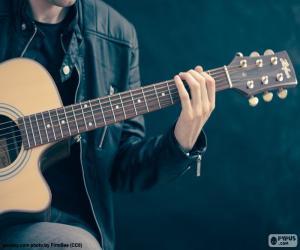 Puzzle Musicien jouant de la guitare