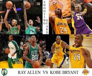 Puzzle NBA final 2009-10, Arrière, Ray Allen (Celtics) vs Kobe Bryant (Lakers)