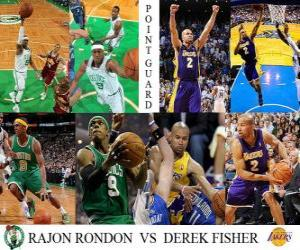 Puzzle NBA final 2009-10, Meneur, Rondon Rajon (Celtics) vs Derek Fisher (Lakers)