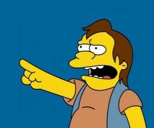 Puzzle Nelson Muntz, parfois l'ami de Bart et Lisa ex-petit ami.