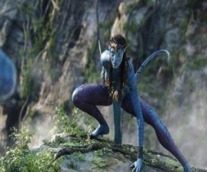 Puzzle Neytiri une na'vi, une race d'humanoïdes de la planète Pandora avec une longue queue