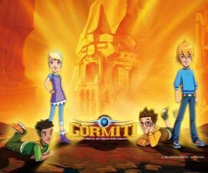Puzzle Nick, Toby, Lucas et Jessica, quatre amis, qui deviennent les Seigneurs de la Nature pour sauver Gorm