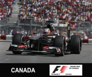 Puzzle Nico Hülkenberg - Sauber - Circuit Gilles-Villeneuve, Montréal, 2013