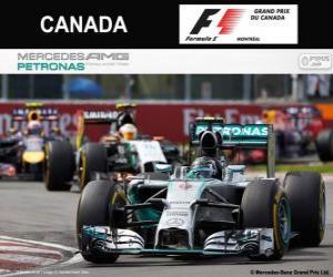 Puzzle Nico Rosberg - Mercedes - Grand Prix du Canada 2014, 2º classé