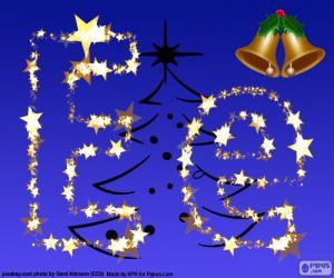 Puzzle Noël avec la lettre E