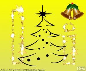 Puzzle Noël et la lettre I