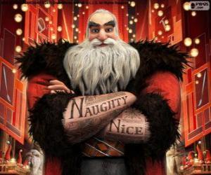 Puzzle Nord, mieux connu comme le Père Noël. Caractère de Les Cinq légendes