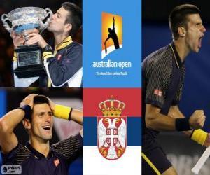Puzzle Novak Djokovic champion Open d'Australie 2013