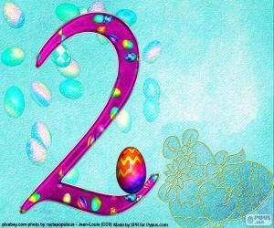 Puzzle Numéro deux de Pâques