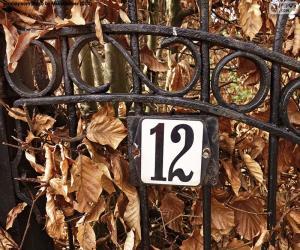 Puzzle Numéro douze