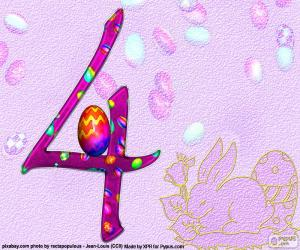 Puzzle Numéro quatre de Pâques