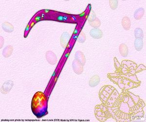 Puzzle Numéro sept de Pâques