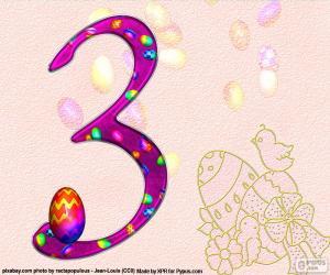 Puzzle Numéro trois de Pâques