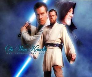 Puzzle Obi-Wan Kenobi, un des maîtres Jedi