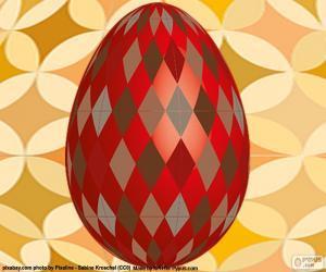 Puzzle Oeuf de Pâques avec losanges