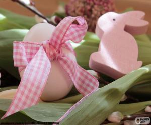 Puzzle Oeuf et lapin de Pâques