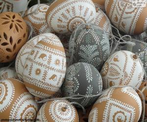 Puzzle Oeufs de Pâques décorés