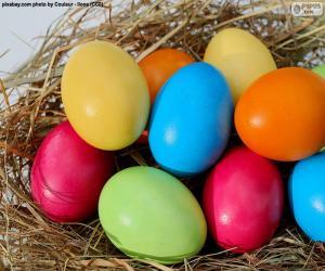 Puzzle Oeufs de Pâques peints
