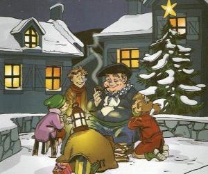 Puzzle Olentzero est un personnage qui apporte des cadeaux le jour de Noël au Pays Basque et en Navarre